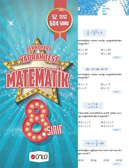 8. Sınıf Ünlü Matematik Çek Kopart Yaprak Test