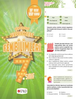 7. Sınıf Ünlü Fen Bilimleri Çek Kopart Yaprak Test
