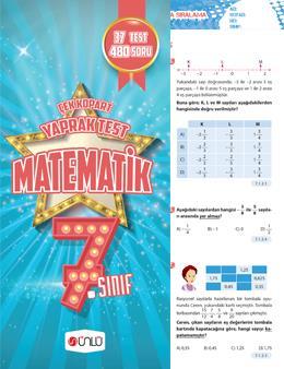 7. Sınıf Ünlü Matematik Çek Kopart Yaprak Test