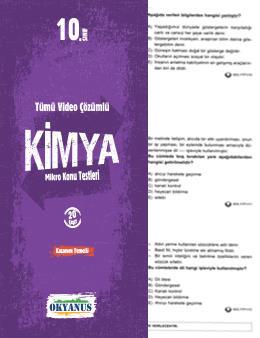 10. Sınıf Kimya Yaprak Test
