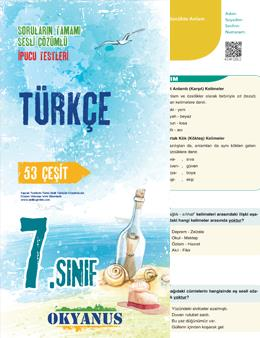 7.Sınıf Türkçe İpucu Yaprak Test